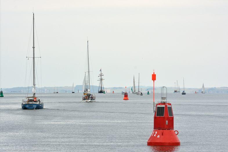 Een brugopening boten