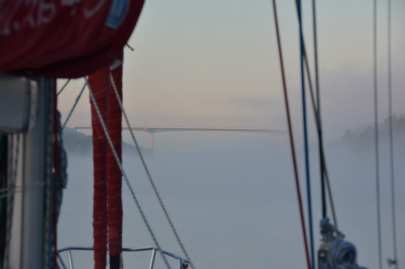 Mist op het Kieler kanaal
