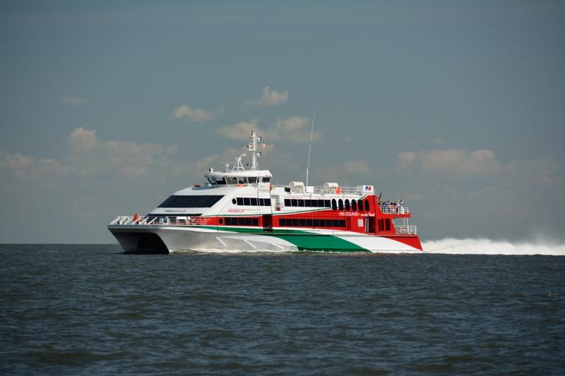 Ferry naar Helgoland