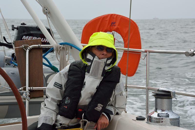 Elly vaart door de scheepvaartroute