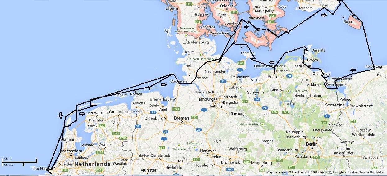 Rondje Oostzee (schematisch)