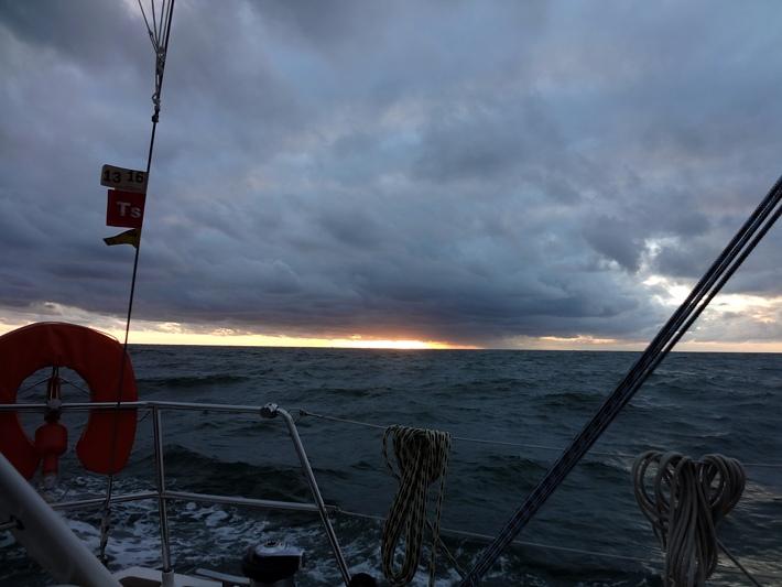 Avond op zee