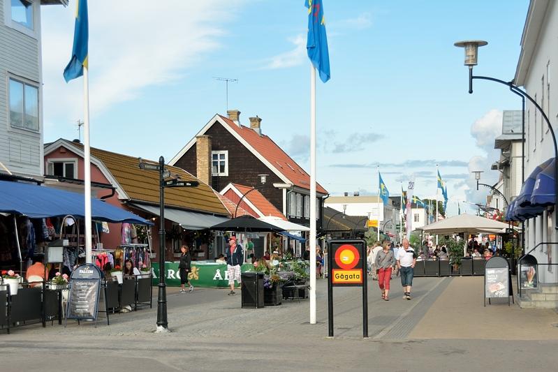 De winkelstraat van Borgholm