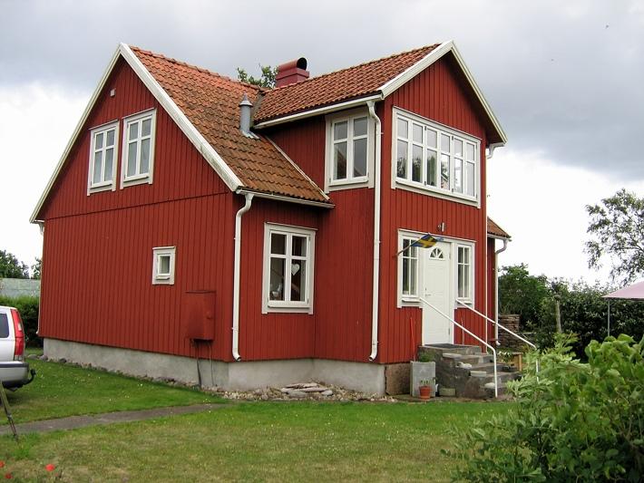 Huis in een klein dorpje