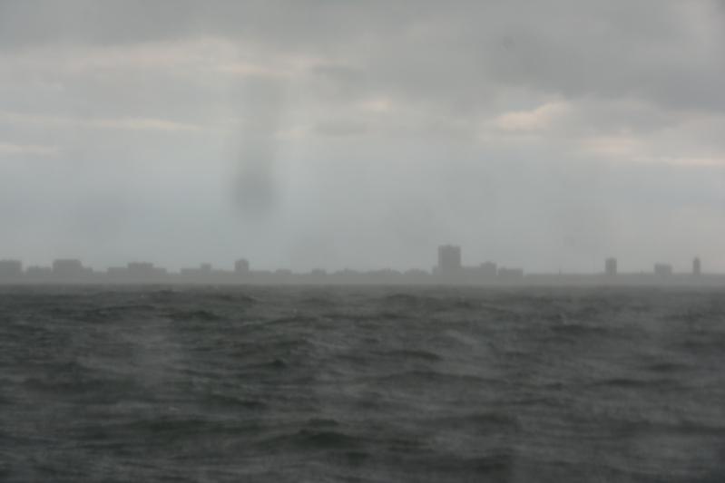 Regen op de Noordzee