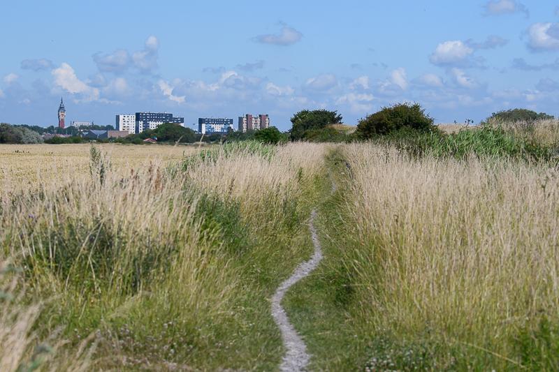 Platteland bij Calais
