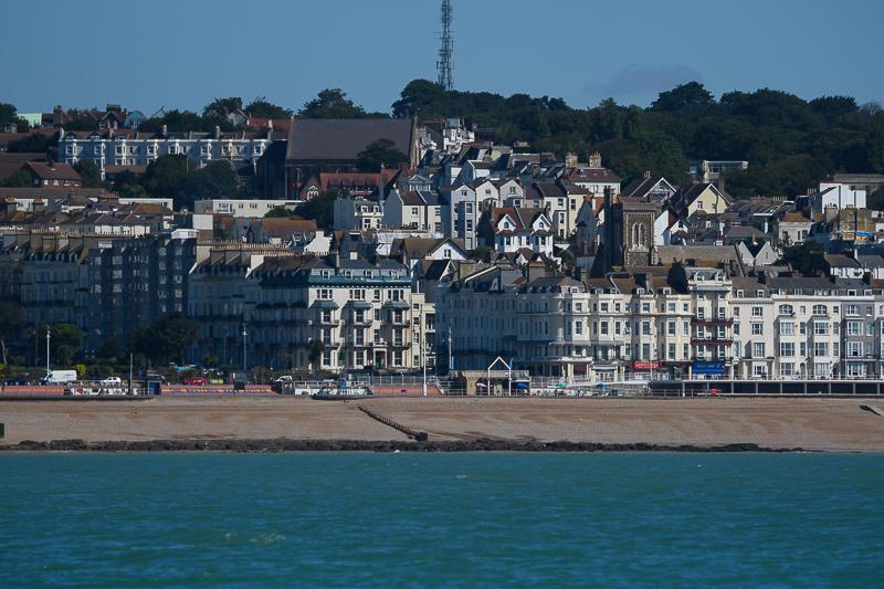 Hastings vanaf zee