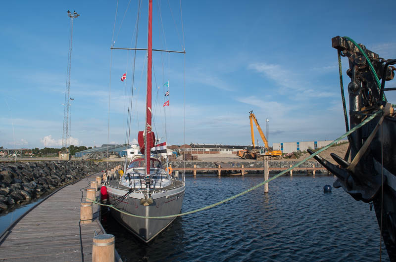 Haven in aanbouw in Middelfart